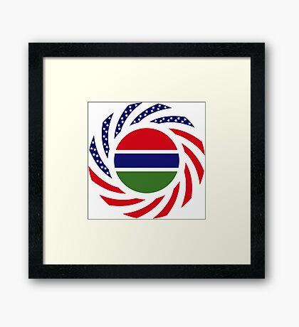 Gambian American Multinational Patriot Flag Series Framed Print