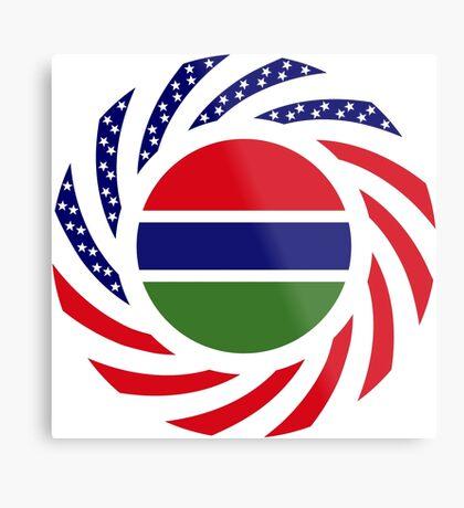 Gambian American Multinational Patriot Flag Series Metal Print