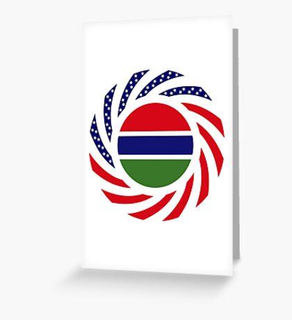 Gambian American Multinational Patriot Flag Series Greeting Card