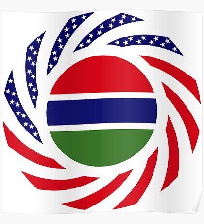 Gambian American Multinational Patriot Flag Series Poster