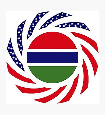 Gambian American Multinational Patriot Flag Series Photographic Print