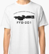 UNSC Forward Unto Dawn FFG-201 Ship Profile Classic T-Shirt