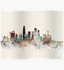 los angeles city skyline Poster