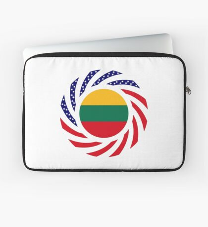 Lithuanian American Multinational Patriot Flag Series Laptop Sleeve