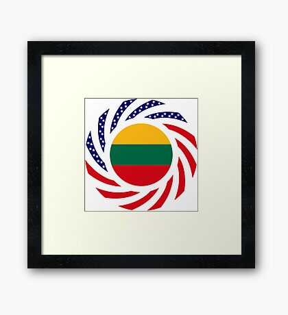 Lithuanian American Multinational Patriot Flag Series Framed Print