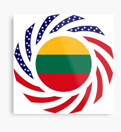 Lithuanian American Multinational Patriot Flag Series Metal Print