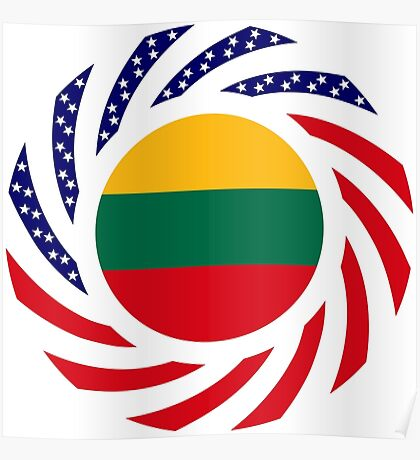 Lithuanian American Multinational Patriot Flag Series Poster