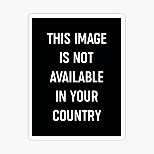 Cette image n'est pas disponible dans votre pays Sticker