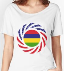 Mauritius American Multinational Patriot Flag Series Women's Relaxed Fit T-Shirt