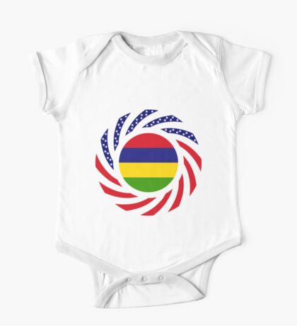 Mauritian American Multinational Patriot Flag Series Kids Clothes