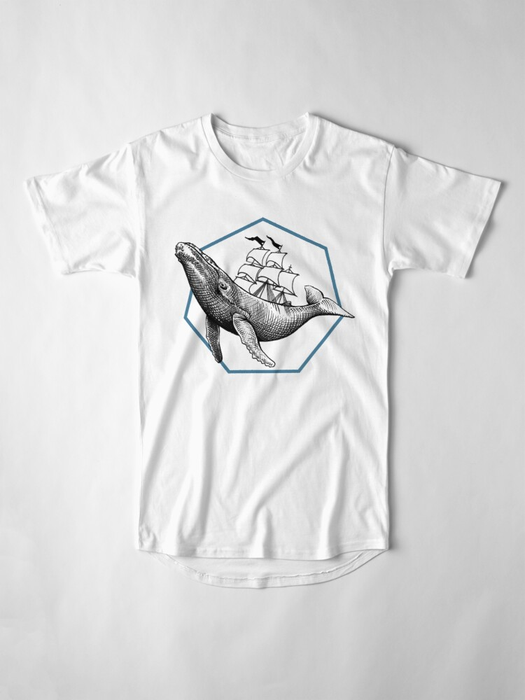 Alternative Ansicht von Blauwal Longshirt