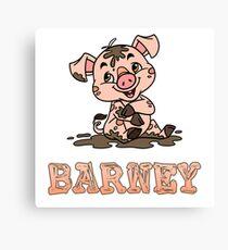 Barney Piggy Canvas Print