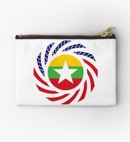 Myanmar American Multinational Patriot Flag Series Zipper Pouch