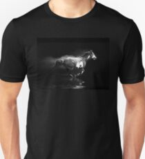 Galloping Pinto Horse and Smoke T-Shirt