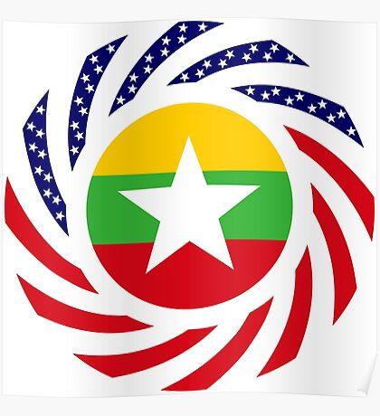 Myanmar American Multinational Patriot Flag Series Poster