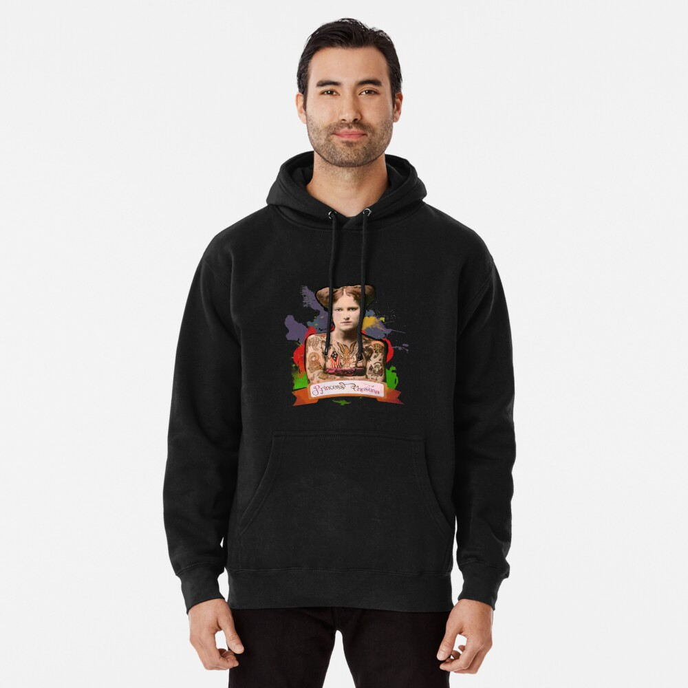 Princess Christina (The Tattooed lady) - The Britannia Panopticon Pullover Hoodie