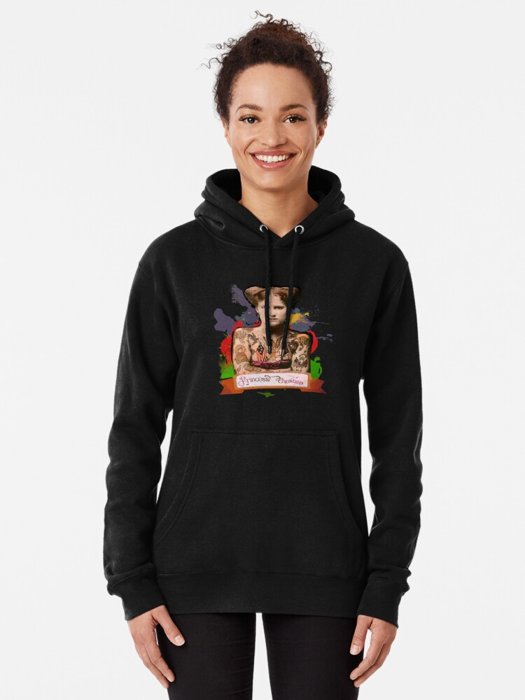 Alternate view of Princess Christina (The Tattooed lady) - The Britannia Panopticon Pullover Hoodie