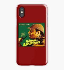 SHERLOCK HOLMES : Vintage Hound of the Baskervilles Print iPhone Case