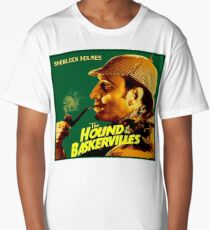 SHERLOCK HOLMES : Vintage Hound of the Baskervilles Print Long T-Shirt