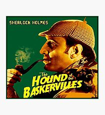 SHERLOCK HOLMES : Vintage Hound of the Baskervilles Print Photographic Print