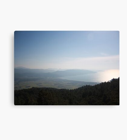 Cool Blue Sky and Green Plains of Gokova from Sakartepe  Canvas Print