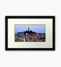 Telegraph Hill Highlited Framed Print