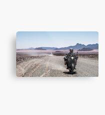 Crossing the Namib desert. Metal Print
