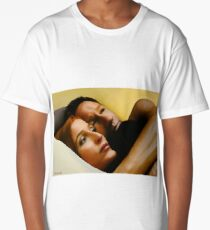 Mulder & Scully in bed - oil color painting Long T-Shirt
