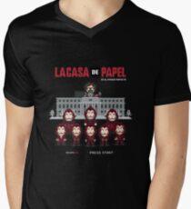 La casa de papel Men's V-Neck T-Shirt