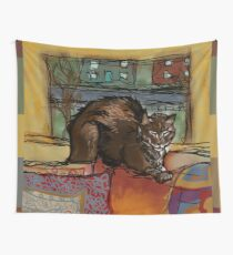 The Leisurely Cat Wall Tapestry