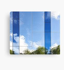 Beautiful abstract background of reflection in mirrored wall Canvas Print