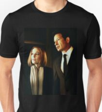Mulder and Scully - oil color painting Unisex T-Shirt