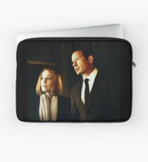 Mulder and Scully - oil color painting Laptop Sleeve