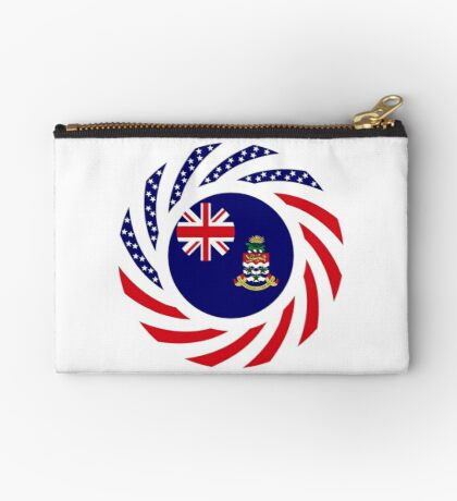 Caymanian American Multinational Patriot Flag Series Zipper Pouch
