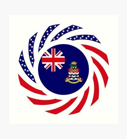 Caymanian American Multinational Patriot Flag Series Art Print