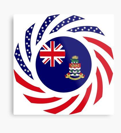 Caymanian American Multinational Patriot Flag Series Metal Print