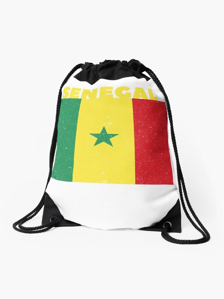 Drawstring Backpack Flag Of Senegal Shoulder Bags