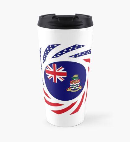 Caymanian American Multinational Patriot Flag Series Travel Mug
