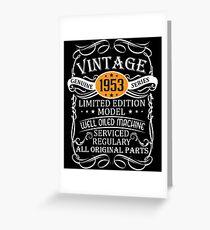 Vintage 65th Funny Birthday T-Shirt 1953 Greeting Card
