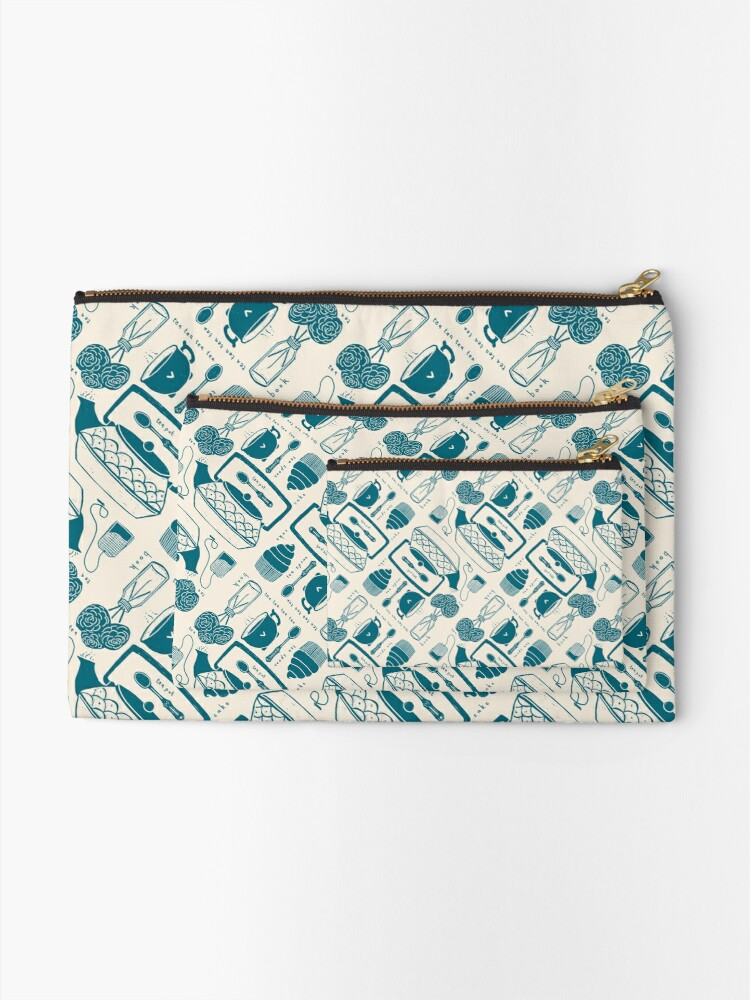 Alternate view of Time for Tea Zipper Pouch