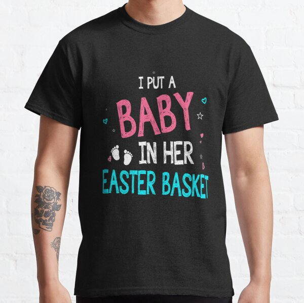Funny Pregnancy Announcement Dad _ Easter Baby Announcement Classic T-Shirt