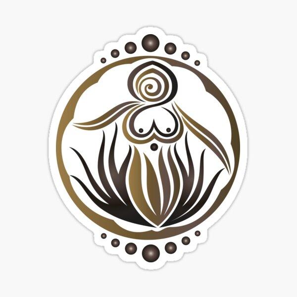 Kleine Erdgöttin. Pagan Wicca Art. Sticker