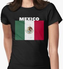 Mexico Vintage Flag Women's Fitted T-Shirt