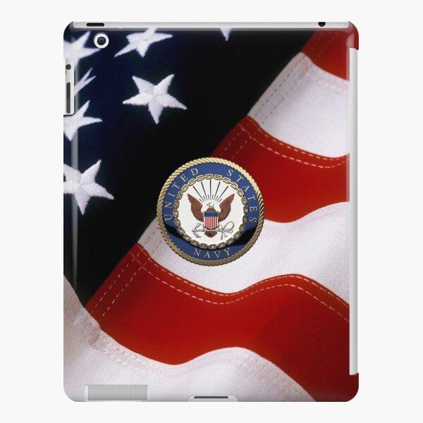 U.S. Navy - USN Emblem over American Flag iPad Snap Case