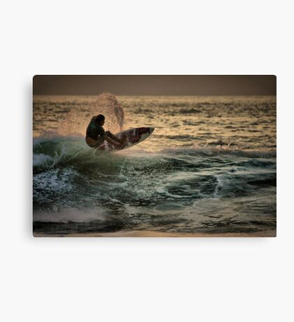 Evening Surfing Canvas Print