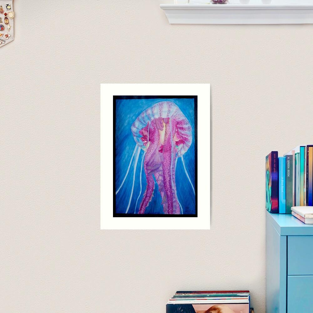 Pelagia jellyfish Art Print