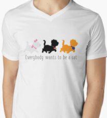 Camiseta para hombre de cuello en v Los aristócratas