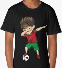 Dabbing Soccer Boy Morocco Jersey Football Long T-Shirt