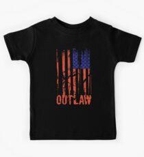 Western Outlaw American Flag Kids Tee