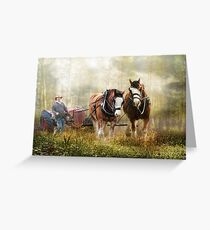 The Tractor Pull Greeting Card